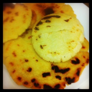 Le mie arepas homemade stile Colombiano
